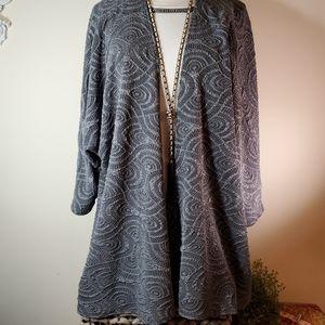 NWT LULAROE dressy gray textured Lindsay sz L